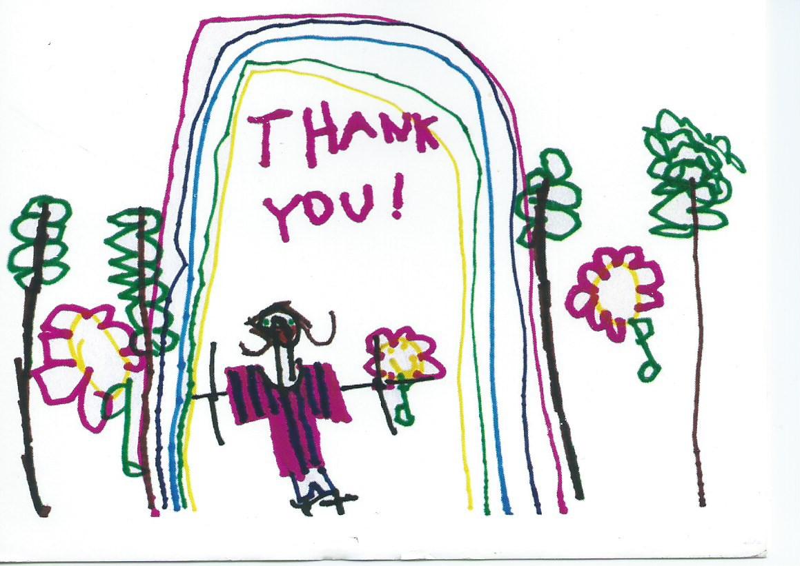 Kindergarten Thank You Card Set Of 4 Each