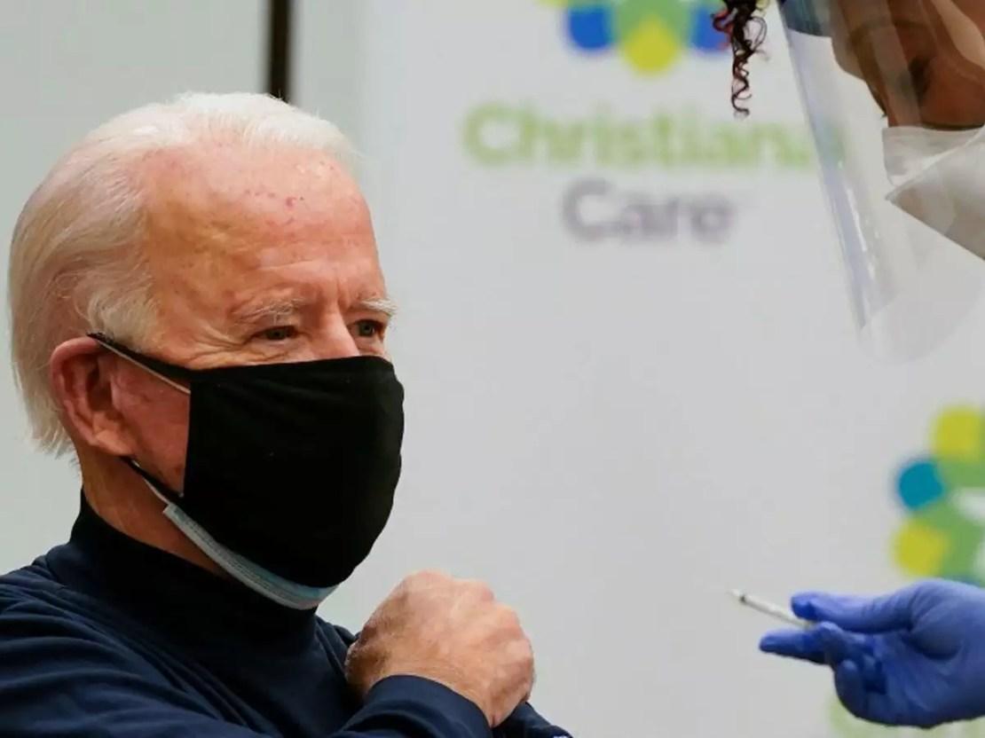 बाइडेन ने लाइव टीवी पर लगवाई कोरोना वैक्सीन