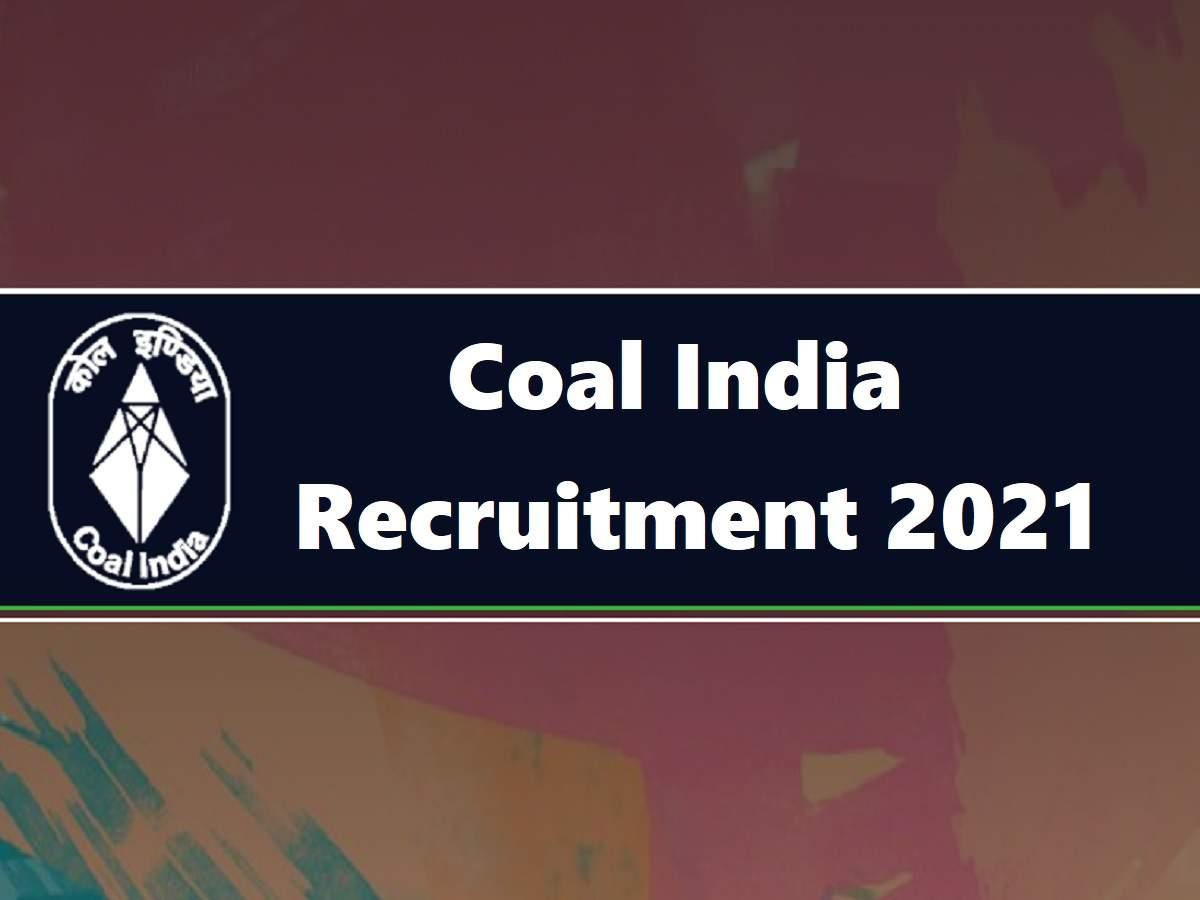 Coal India Jobs: Coal India Vacancy 2021: Jobs in Coal India, no exams, salary starts at Rs 80,000 per month