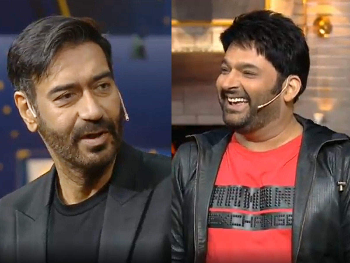 Ajay Devgn pulls Kapil Sharma's leg: The Kapil Sharma Show Ajay Devgn pulls comedian's leg to become a father for the second time