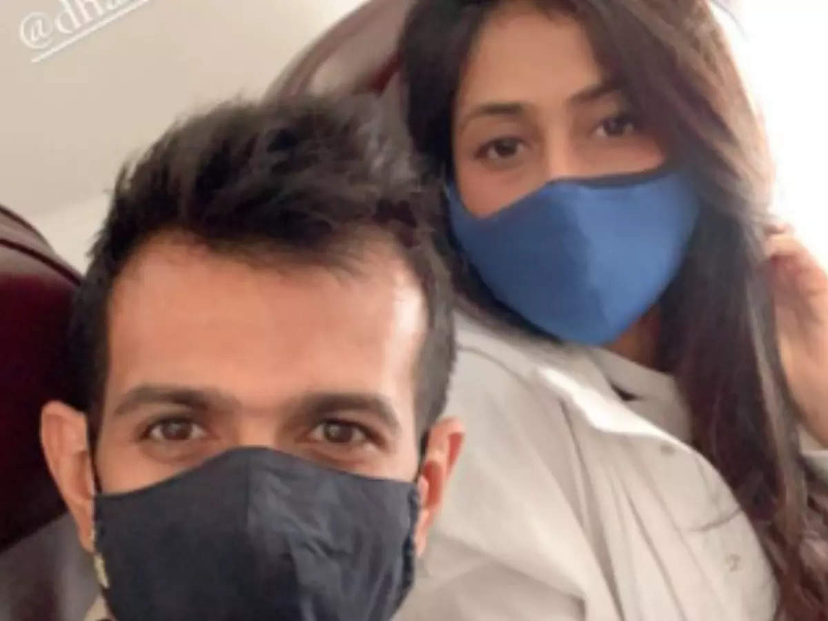 Chahal-Dhanshree Verma: Yuzvendra Chahal along with his wife Dhanshree Verma and Virat Kohli arrived in Bangalore on September 15 to join the team in the UAE: