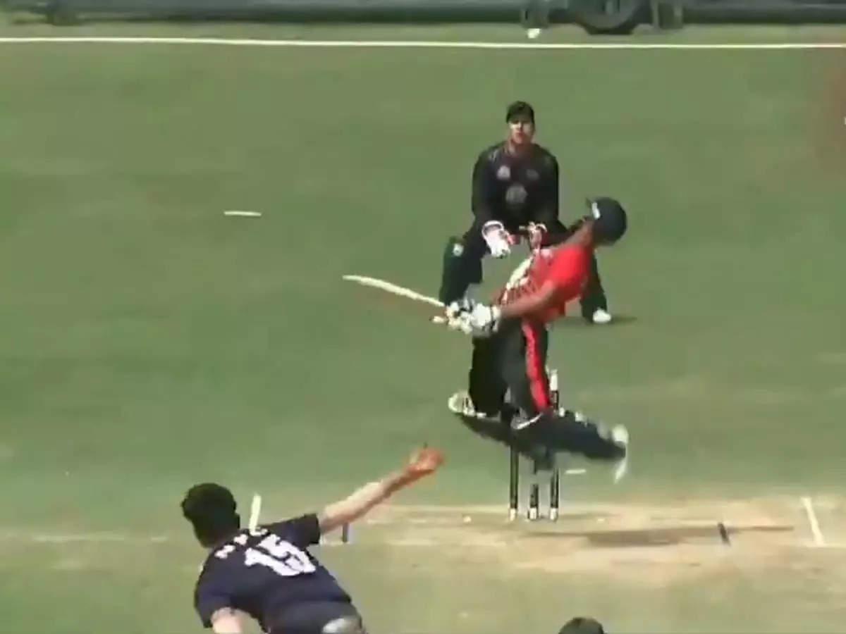 Nepal's fast bowler Gulshan Jha: Nepal's fast bowler Gulshan Jha impressed with his speed: Nepal's fast bowler Gulshan Jha impressed