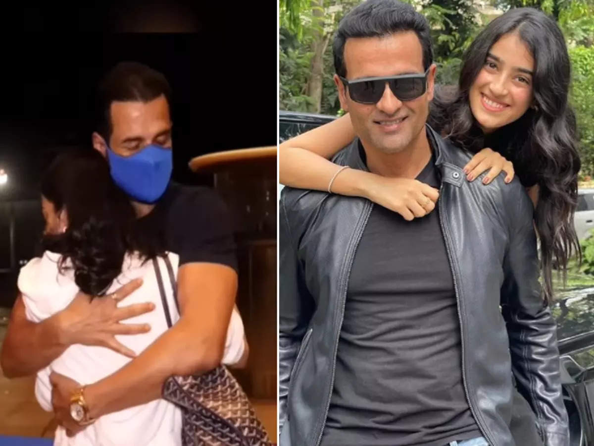 Rohit Roy's daughter cries at the airport: Rohit Roy's daughter Kiara cries at the airport and uncle Ronit Roy comforts her Watch the video: