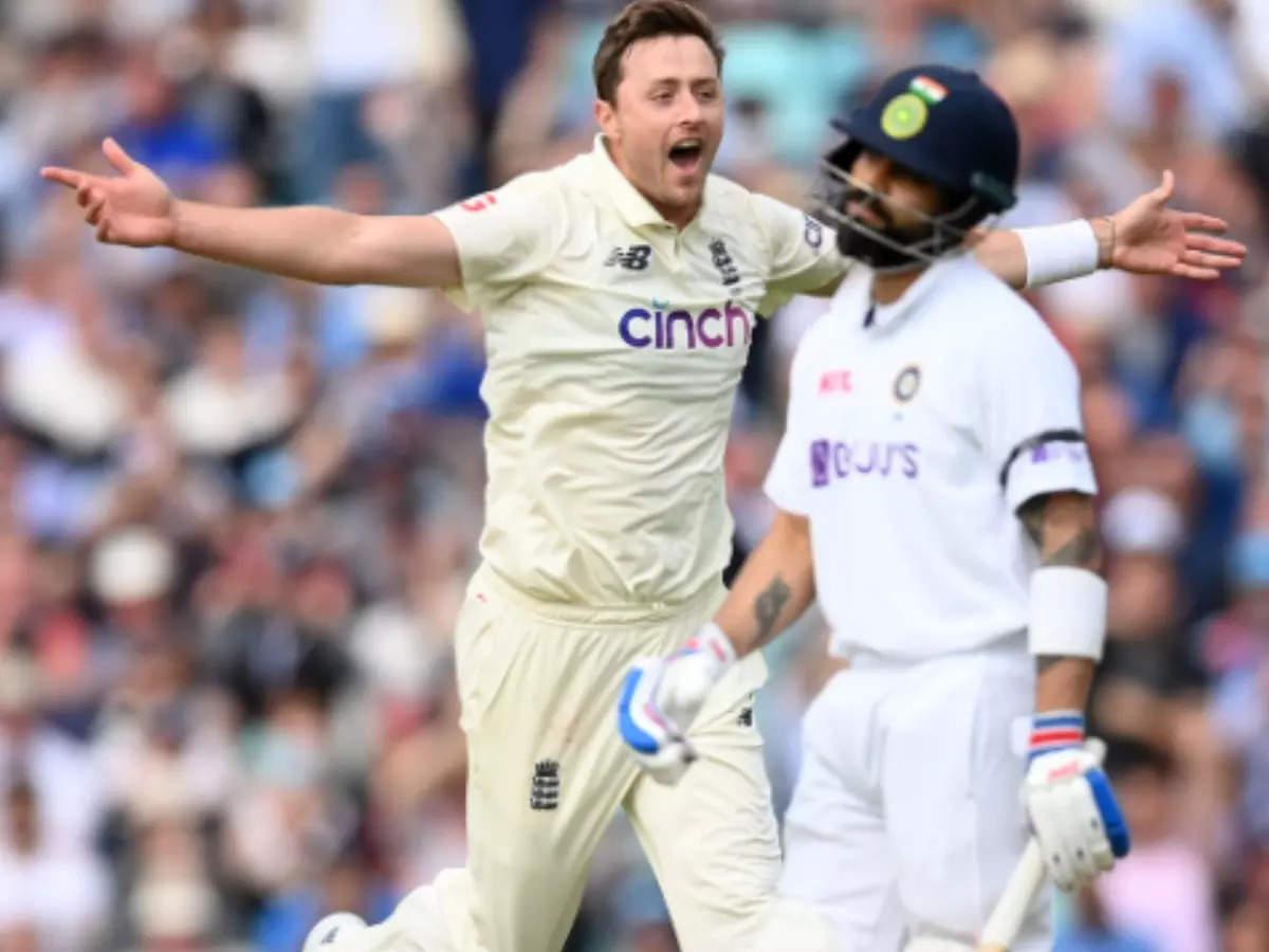 Kohli out Robinson: Watch the video Oli Robinson dismisses Virat Kohli after the 27th Test, Indian captain responds
