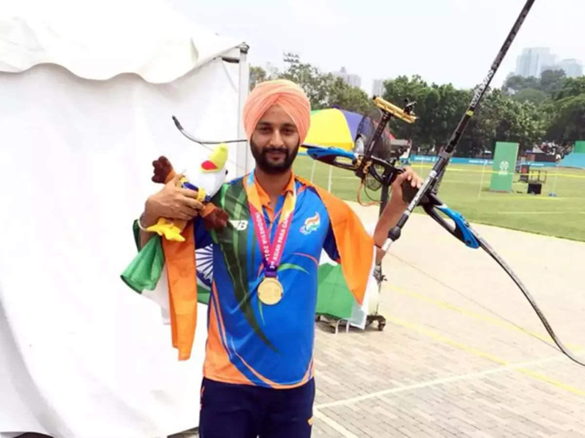 Harvinder Singh Paralympic Archery: Harvinder Singh Paralympic Bronze Medal for Training
