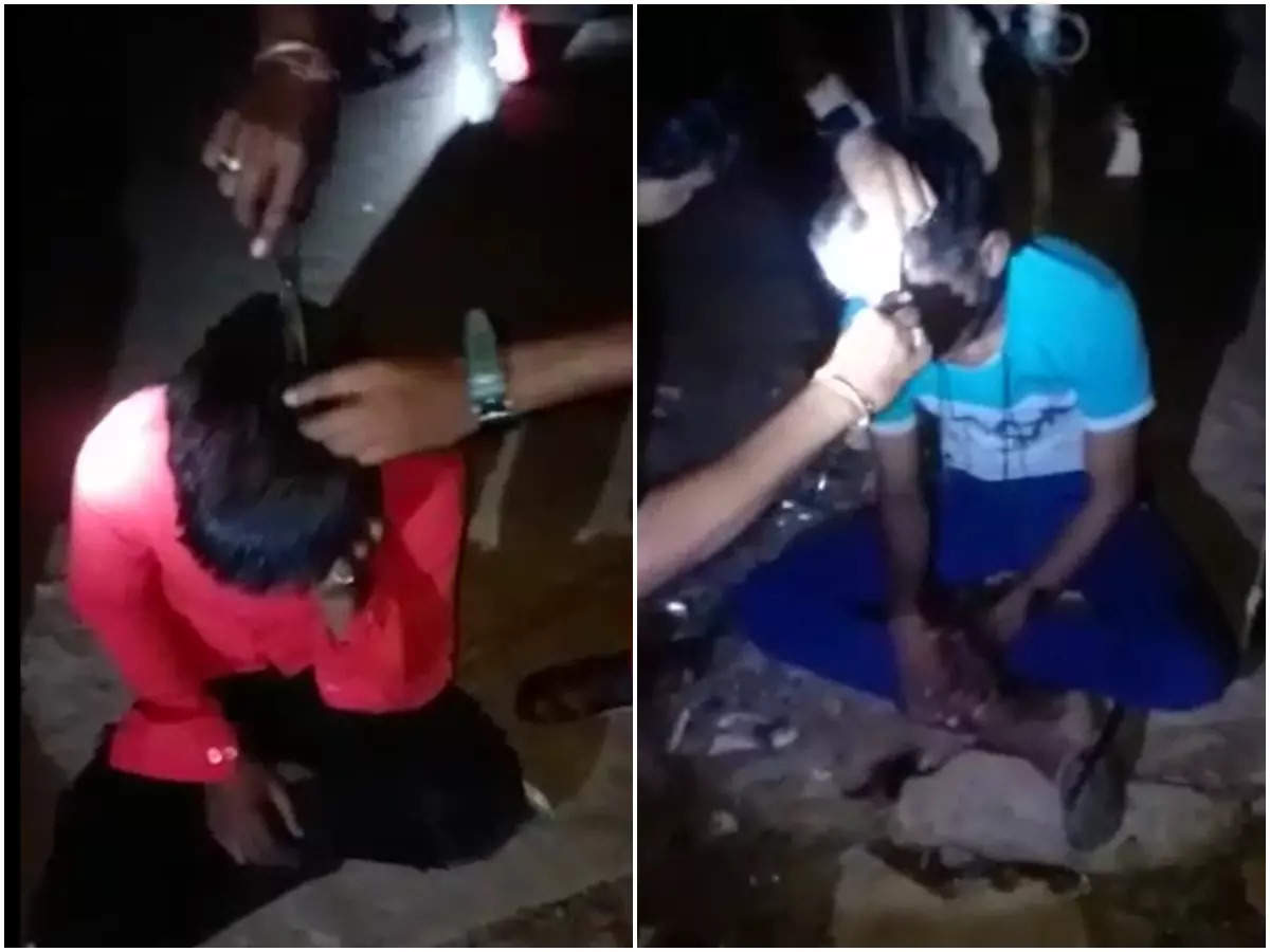 Video of children being forcibly cut hair: Katni viral Video: Villagers cut off the hair of a young man by asking him to learn a lesson by coloring the video, Case rate after the video went viral: Katni viral