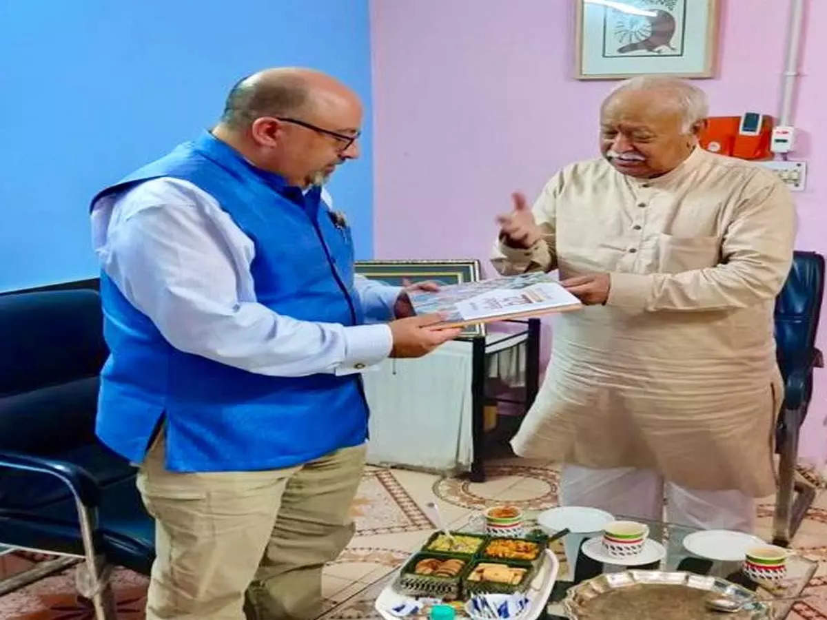 US Ambassador meets Mohan Bhagwat: Wednesday was Atul Keshav's last day as US Ambassador to India, Atul Keshav meets RSS on how to be great