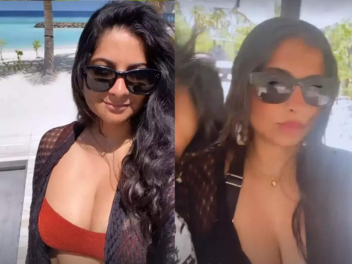 Riya Kapoor enjoying a Maldives honeymoon: Riya Kapoor with her husband Karan Boolani in the Maldives honeymoon: Riya Kapoor has gone for a honeymoon in the Maldives with her husband Karan Boolani.