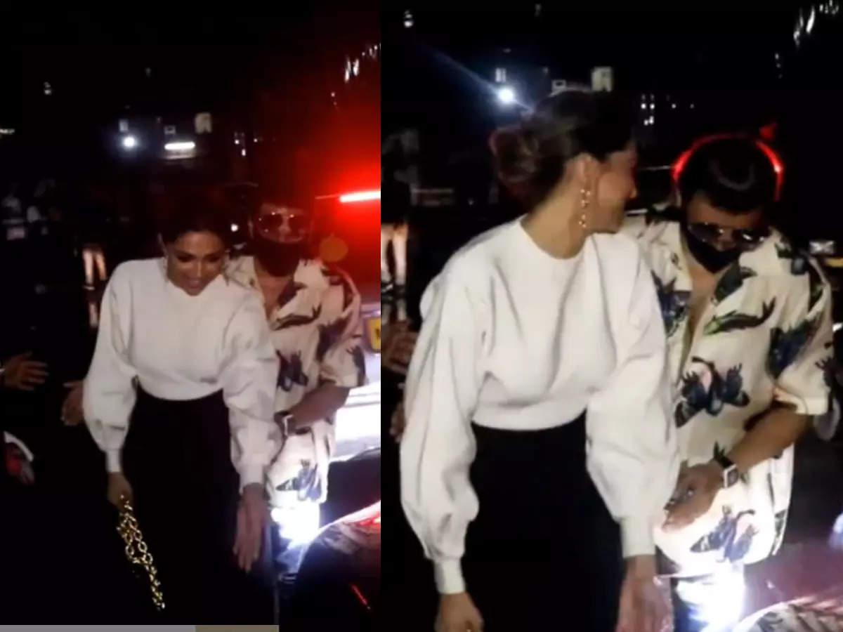 Deepika Padukone with PV Sindhu: Deepika Padukone and Ranveer Singh Paparazzi asked to sing their sandals