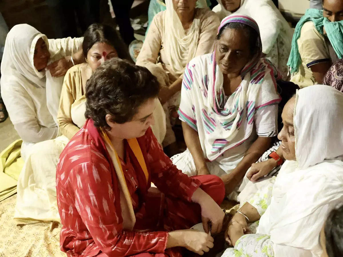 Priyanka Gandhi on BJP workers: Priyanka Gandhi said in Lakhimpur that she wants to go to the homes of BJP workers who were killed in the violence.