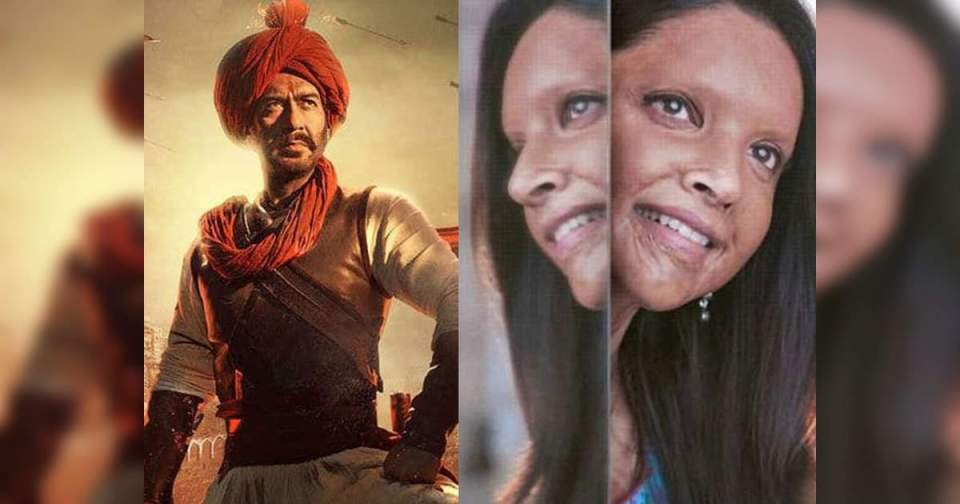tanhaji and chhapaak box office collection: the other day there was a big difference in the collection of 'tanaji: the unsung warrior' and 'chhapak' – huge defference in box office collection between tanhaji the unsung warrior and chhapaak on day two