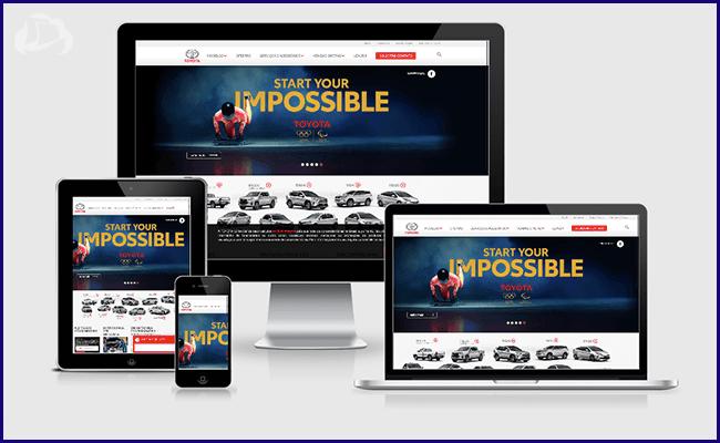 Site Institucional da Toyota em WordPress
