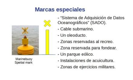 Balizamiento Marítimo (V) – Marcas especiales