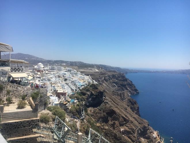 Promenade vers Oia de Fira Santorin