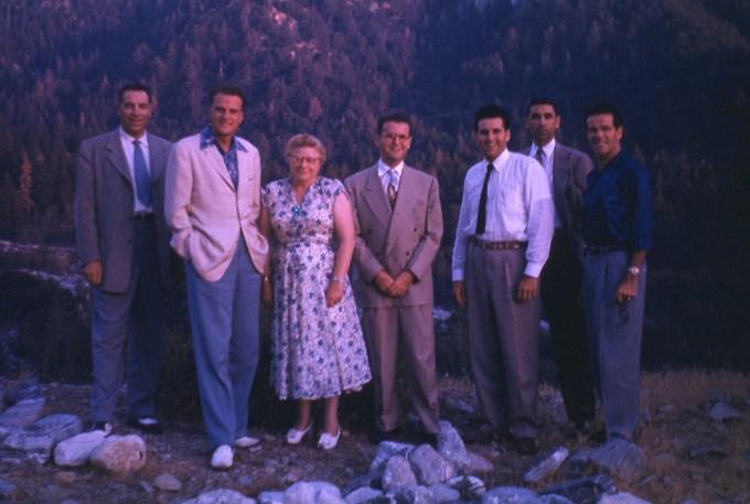 Billy Graham Team with Dawson Trotman Scenic