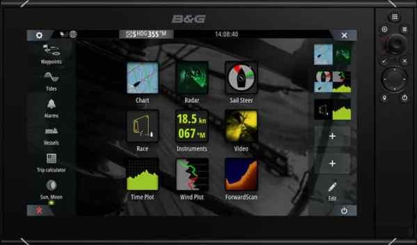 B&G Zeus3S 9-Zoll Multifunktionsdisplay Kartenplotter