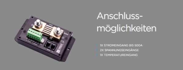 Simarine SC503 Shunt Anschlussmöglichkeiten