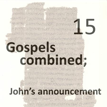 Gospels combined 15 - johns announcement