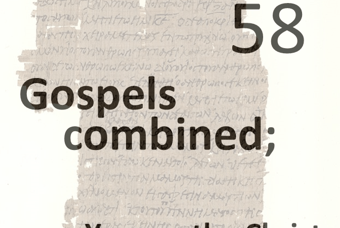 Gospels combined 58 - you are the christ