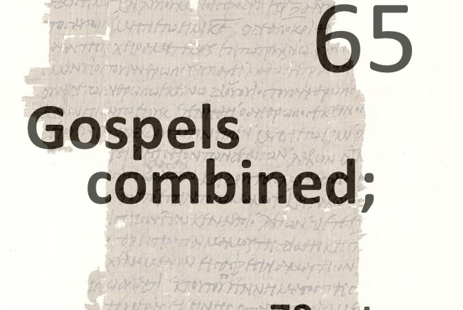 Gospels combined 65 - 70 return
