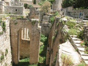 Bethesda Gate ruins in jerusalem