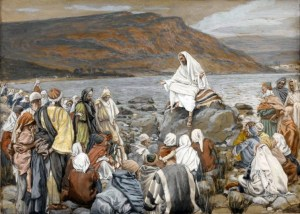 Jesus teaching by the seaside