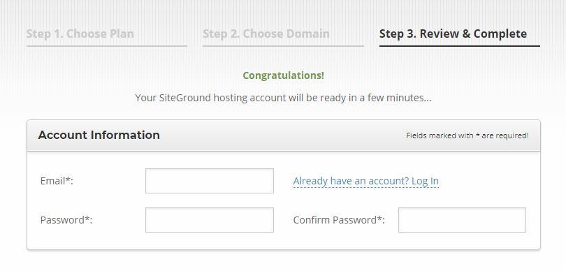 Using SiteGround Account Information