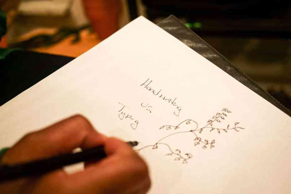Navigating This Space - handwriting vs typing