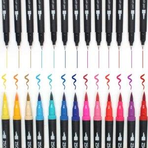 32 Colors Dual Tip Brush Pens Art Markers Set