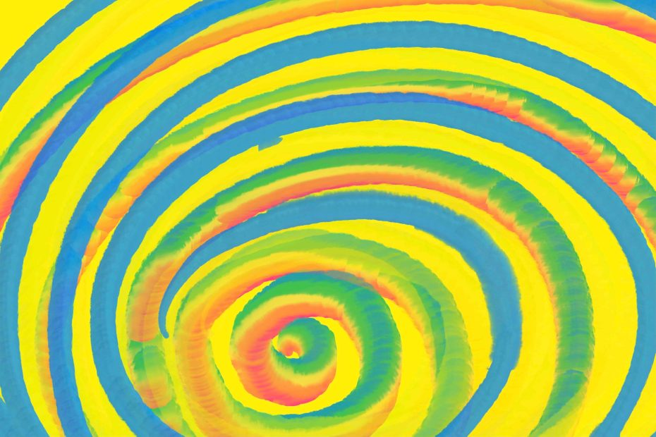 swirl watercolor rainbow pattern representing confusion pertaining to Barriers Of Communication