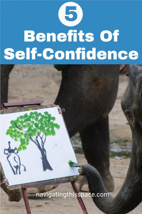 An elephant painting with his trunk. 5 Benefits-Of-Self-Confidence