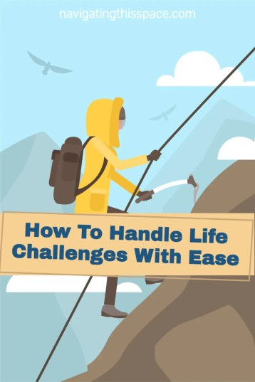 a character taking on the challenge of rock climbing a steep mountain