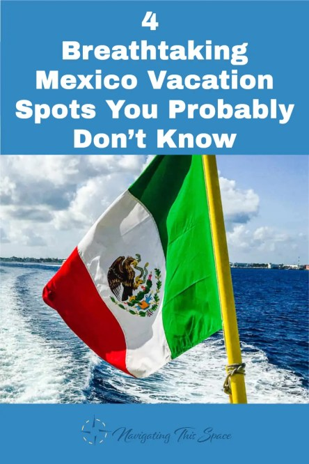 Mexico flag on the back of a boat