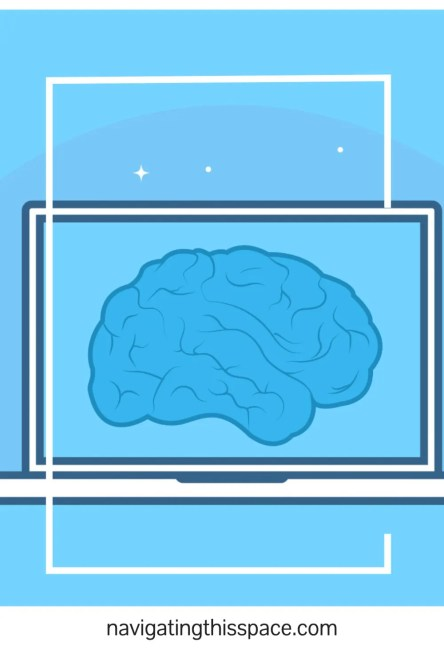 an illustration of the human brain on a computer screen