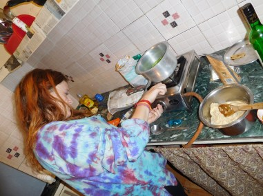 Cooking in our kitchen!!
