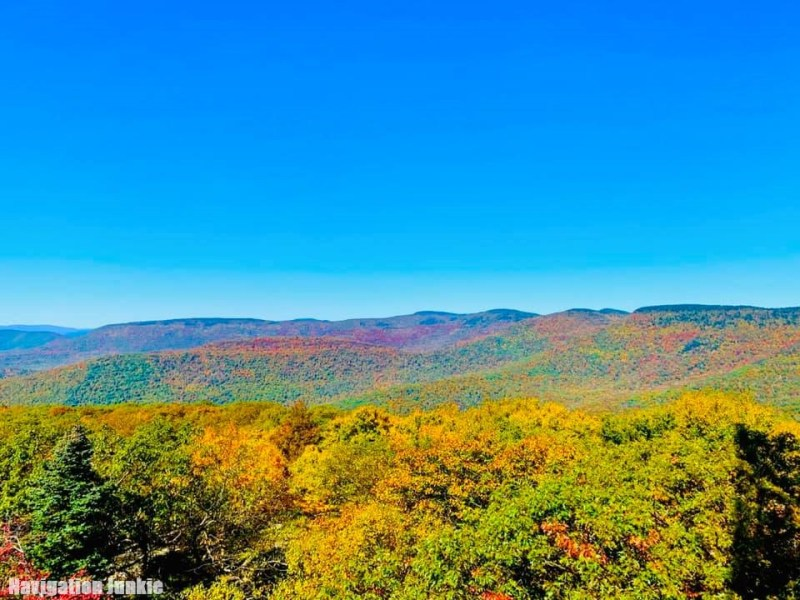 The Catskills, fall foliage in the US