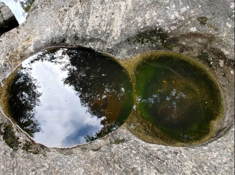 Natural Stone Bridge and Caves: potholes.