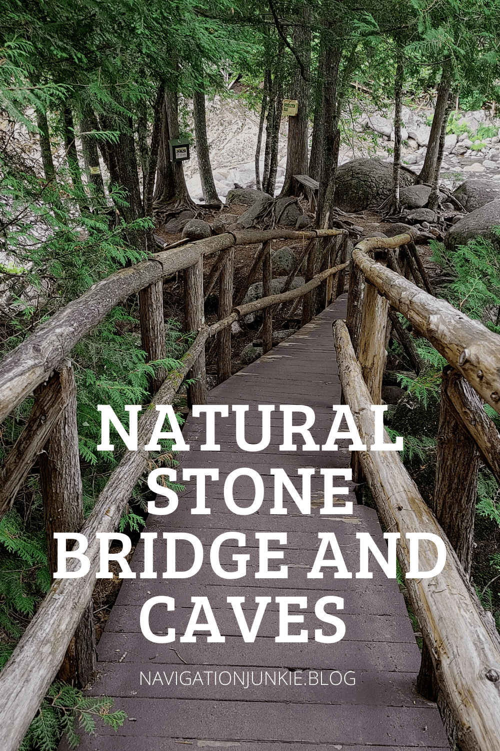 The Natural Stone Bridge and Caves trail will take you past the stone bridge, the largest cave entrance in the Eastern US, and natural potholes.