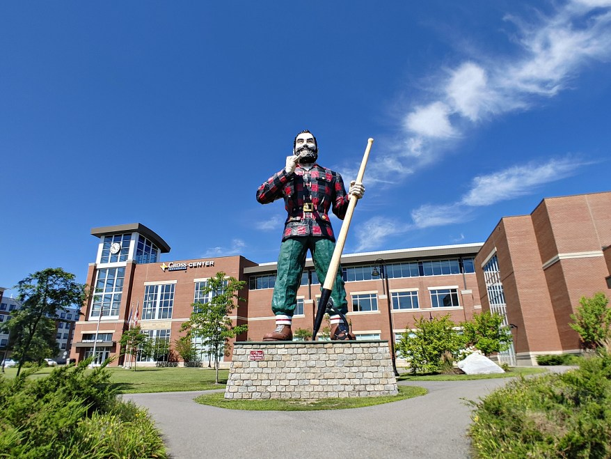 Paul Bunyan statue, real life Derry, Bangor