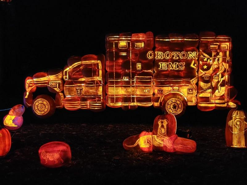 EMT at the Great Jack 'O' Lantern Blaze.