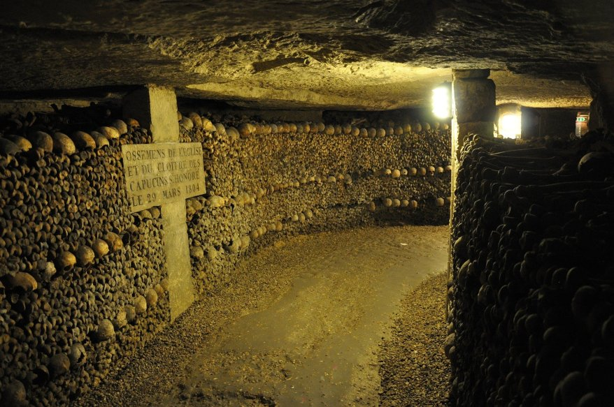 Paris catacombs, spookiest destinations