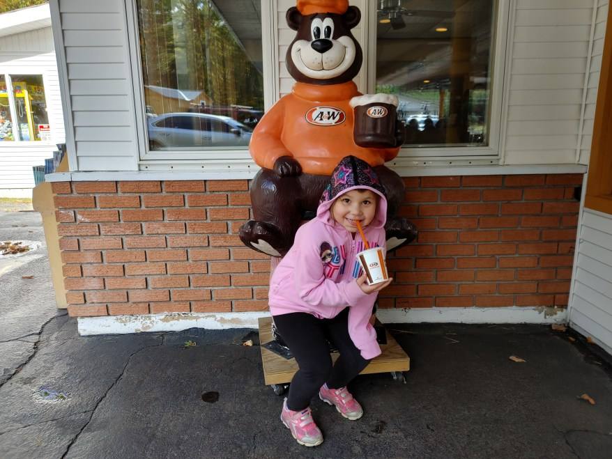 A&W, Root bear beer, Lake Placid with Kids