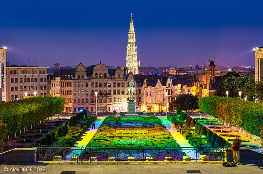 Mont Des Arts, best parks and gardens in Brussels
