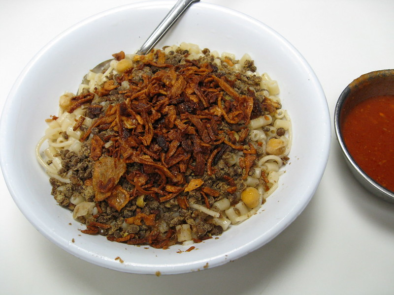 Kushari. Vegetarian Food Bucket List