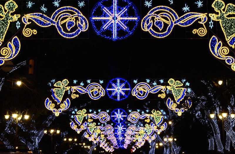 The Christmas Lights of Malága, family Christmas destinations
