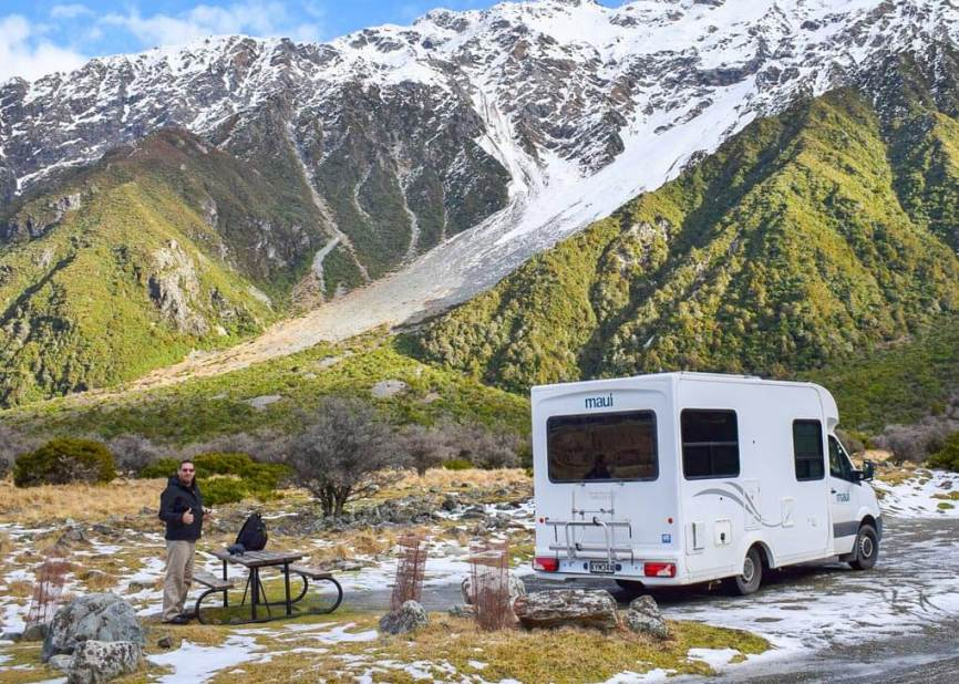 New Zealand camping.