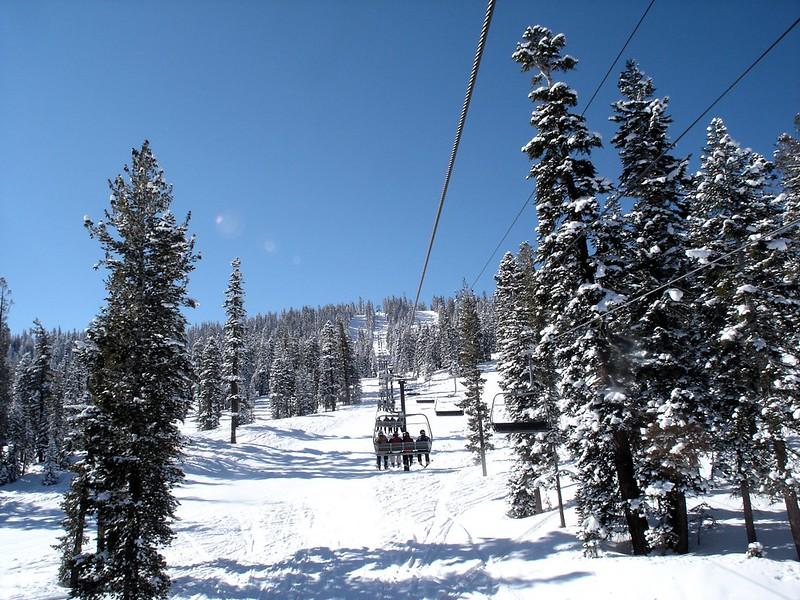 Ski lift, Lake Tahoe, cold winter family getaways