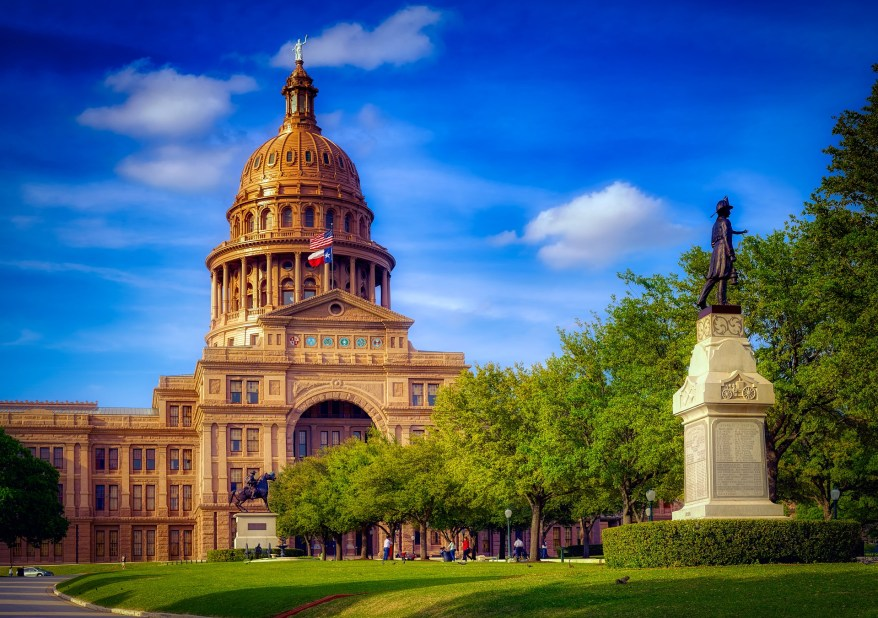 texas state capitol building. Warm winter family getaways