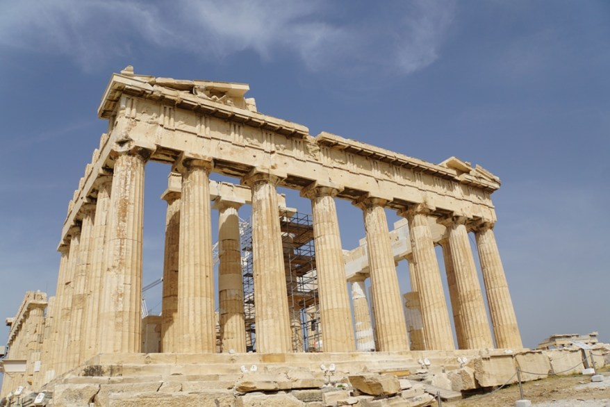 The Parthenon in Athens, mom's weekend getaways