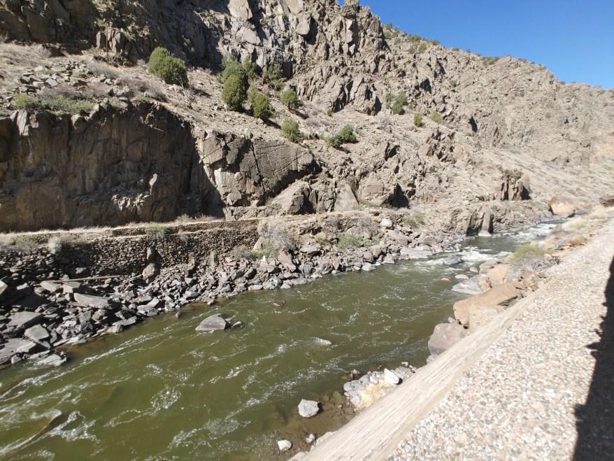 The arkansas river through the royal gorge